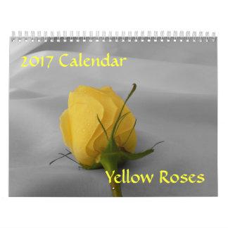 Calendario del rosa amarillo 2017
