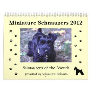 Calendario del Schnauzer miniatura 2012