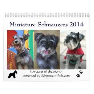 Calendario del Schnauzer miniatura 2014