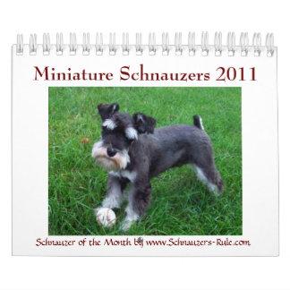 Calendario del Schnauzer miniatura 2016