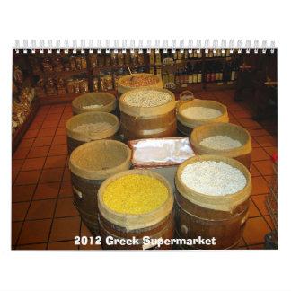 Calendario del supermercado de 2012 Griegos