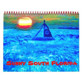 Calendario del sur soleado de la Florida
