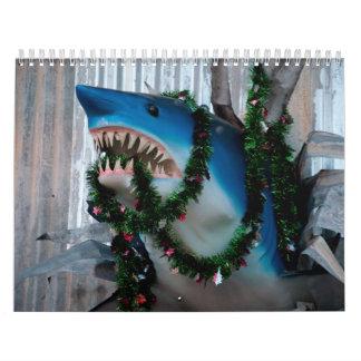 Calendario del tiburón del navidad