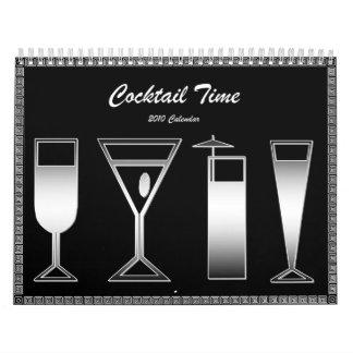 Calendario del tiempo 2010 del cóctel