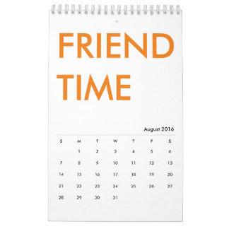 Calendario del tiempo del amigo
