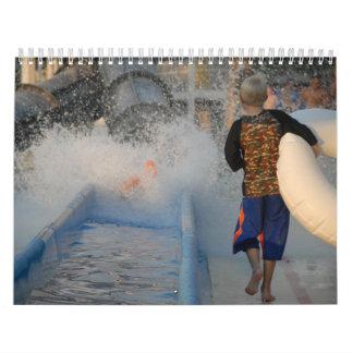 Calendario del tobogán acuático