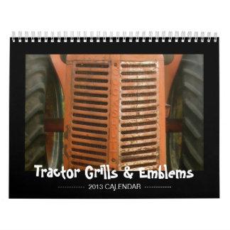 Calendario del tractor: Parrillas y emblemas (2013