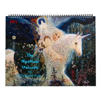 """Calendario """"del unicornio místico"""" de Elizabeth"""