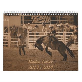 Calendario del vaquero del rodeo