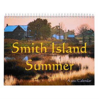 Calendario del verano de la isla de Smith