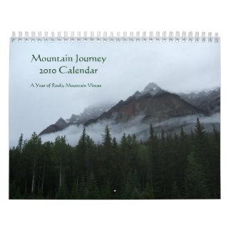 Calendario del viaje 2010 de la montaña