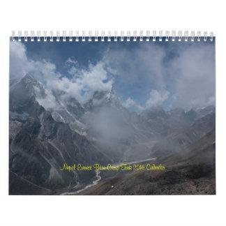 Calendario del viaje 2016 del campo bajo de Nepal