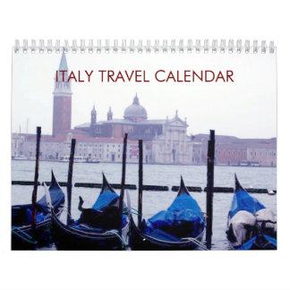 Calendario del viaje 2017 de Italia