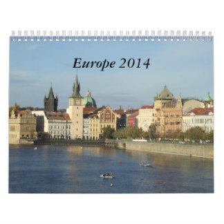 Calendario del viaje de Europa 2014