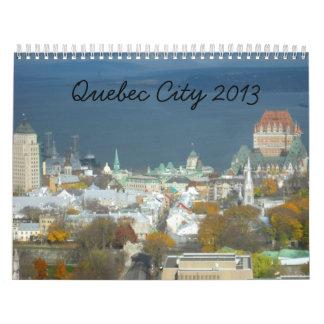 Calendario del viaje de la ciudad de Quebec Canda