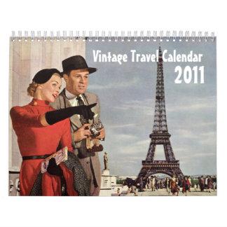 Calendario del viaje del vintage 2011