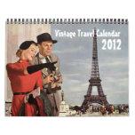 Calendario del viaje del vintage 2012