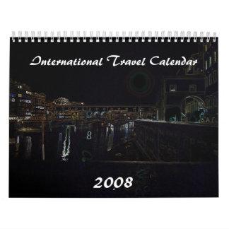 Calendario del viaje internacional, 2008