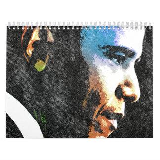 Calendario del vintage de presidente Barack Obama