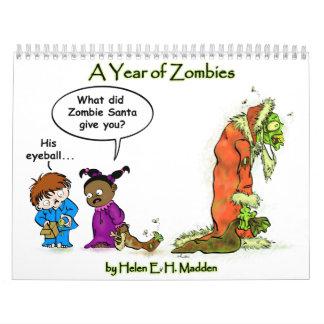 ¡Calendario del zombi! Calendarios De Pared