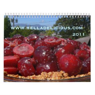 Calendario delicioso 2011 de la comida de Hella