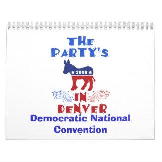 Calendario Democratic 2008 del convenio nacional