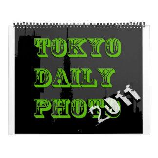 Calendario diario de la foto 2011 de Tokio