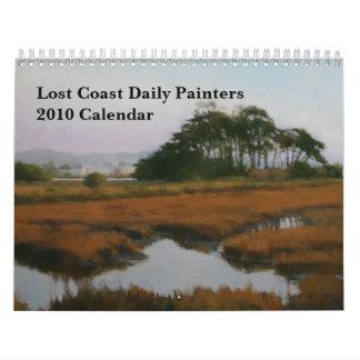Calendario diario de los pintores 2010 de la costa