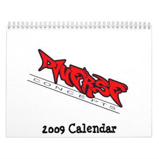 Calendario diverso del club 2009 del coche de los