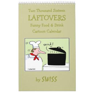 Calendario divertido de la cocina del dibujo