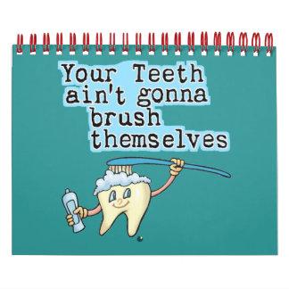 Calendario divertido de la oficina de los dentista