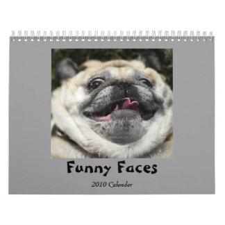 Calendario divertido de las caras
