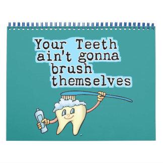 Calendario divertido de los dentistas