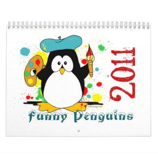 Calendario divertido de los pingüinos