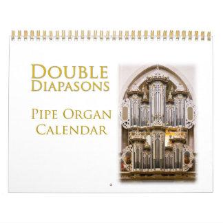 Calendario doble del órgano de los Diapasons