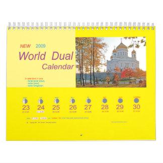Calendario dual 2009 del mundo
