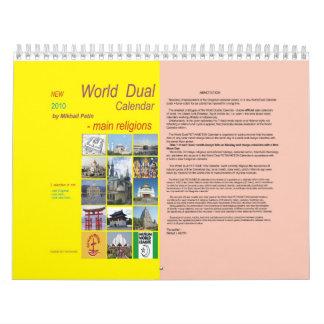 Calendario dual 2010 del NUEVO mundo (religiones
