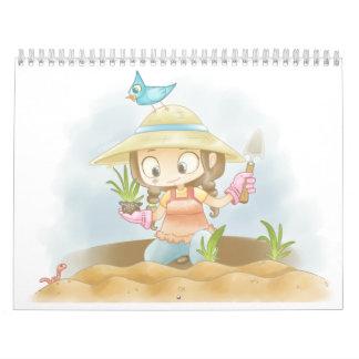 Calendario dulce del ejemplo