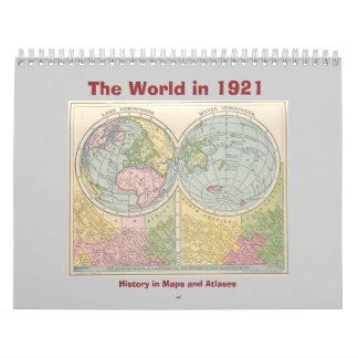 Calendario El mundo en 1921