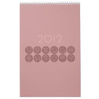 Calendario elegante del horóscopo
