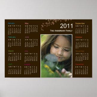 Calendario elegante del poster de la foto de las h