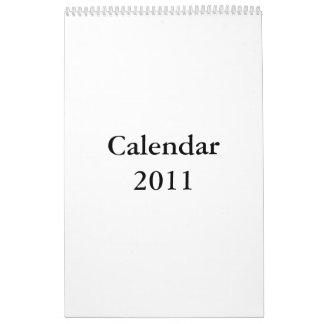 Calendario en blanco 2011