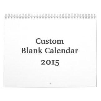 Calendario en blanco 2015 - personalizado con días