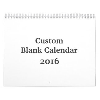 Calendario en blanco 2016 - personalizado con días