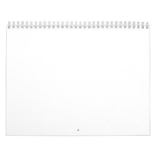 Calendario en blanco blanco