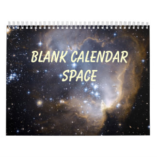 Calendario en blanco - espacio