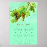 Calendario en colores pastel 2014 del arte de las  poster