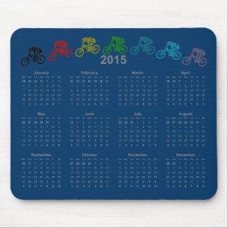 Calendario en declive 2015 del salto de MTB Alfombrillas De Raton