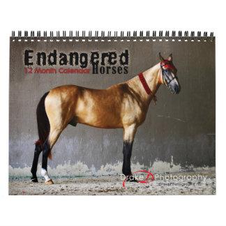 Calendario en peligro de 2011 razas del caballo