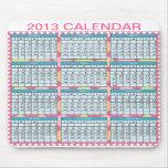 Calendario en un Mousepad Alfombrilla De Ratón